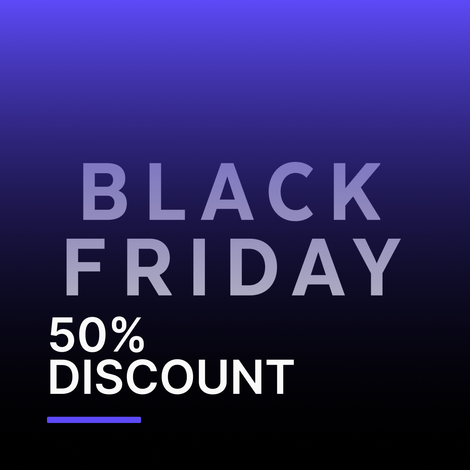Black Friday: 50% di sconto sul piano VIP